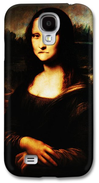 Smiling Mixed Media Galaxy S4 Cases - Mona Lisa Take One Galaxy S4 Case by Bill Cannon