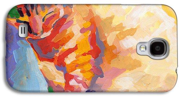 Gray Tabby Galaxy S4 Cases - Mona Lisas Rainbow Galaxy S4 Case by Kimberly Santini