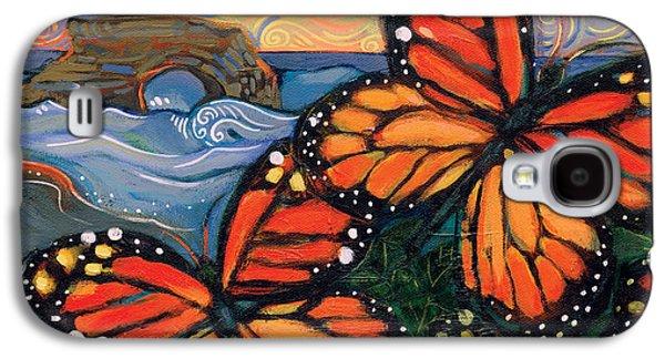 Monarch Butterflies At Natural Bridges Galaxy S4 Case by Jen Norton