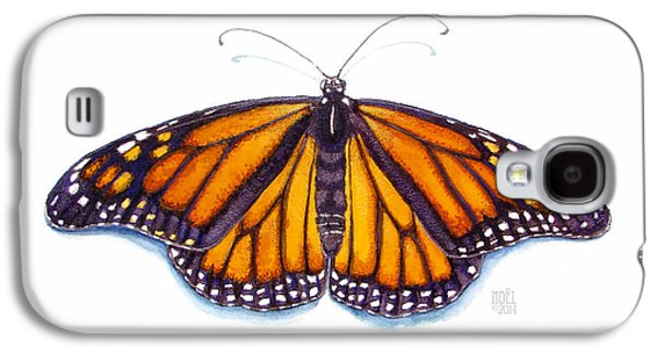 Catherine White Paintings Galaxy S4 Cases - Monarch Butterfly Galaxy S4 Case by Catherine Noel