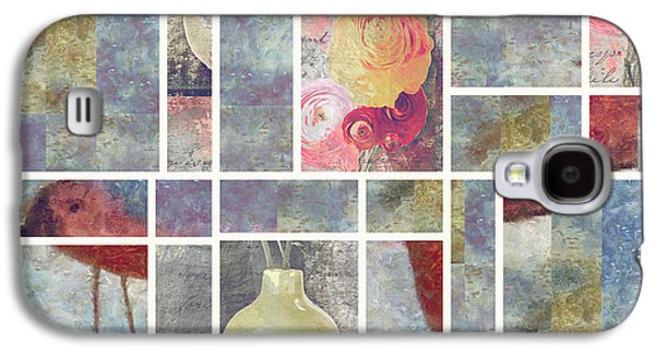 Flower Still Life Mixed Media Galaxy S4 Cases - Mondrianity - 08a Galaxy S4 Case by Variance Collections