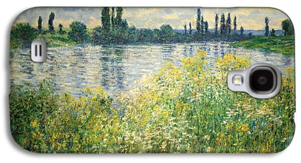 Vetheuil Photographs Galaxy S4 Cases - Monets Banks Of The Seine At Vetheuil Galaxy S4 Case by Cora Wandel
