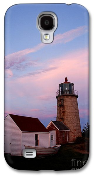 Midcoast Galaxy S4 Cases - Monhegan Lighthouse 110 Galaxy S4 Case by Cindy McIntyre