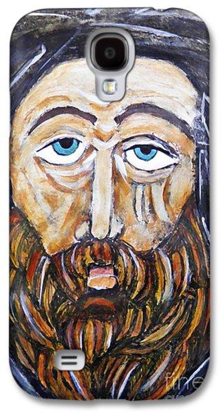 Monasticism Galaxy S4 Cases - Monk 4 Galaxy S4 Case by Sarah Loft