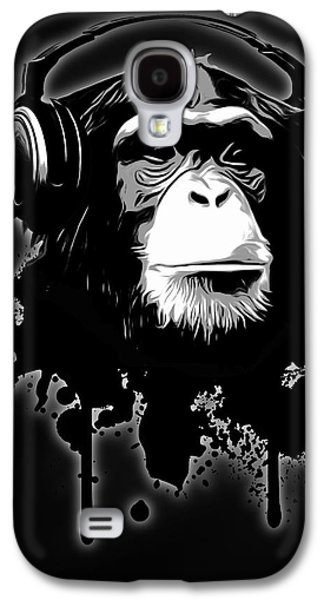 Insects Digital Art Galaxy S4 Cases - Monkey Business - Black Galaxy S4 Case by Nicklas Gustafsson