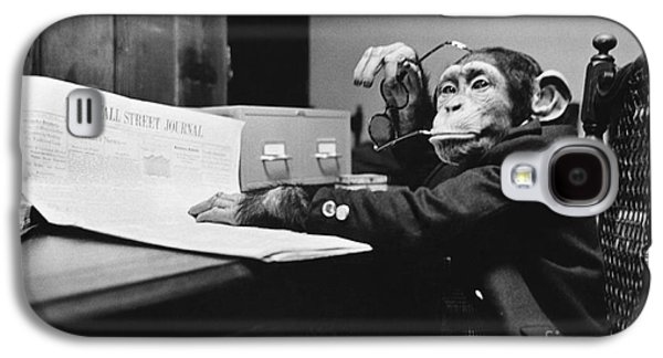 Contemplative Photographs Galaxy S4 Cases - Monkey Business Galaxy S4 Case by Bruce Buchenholz