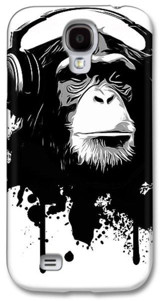 Ape Digital Art Galaxy S4 Cases - Monkey business Galaxy S4 Case by Nicklas Gustafsson