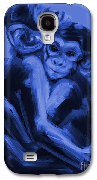 Ape Digital Art Galaxy S4 Cases - Monkey Love T17 Galaxy S4 Case by Go Van Kampen