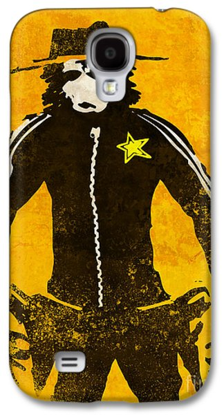 Street Drawings Galaxy S4 Cases - Monkey Sheriff Galaxy S4 Case by Pixel Chimp