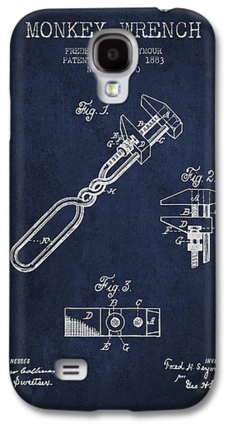 Monkey Wrench Patent Drawing From 1883 Galaxy S4 Case by Aged Pixel