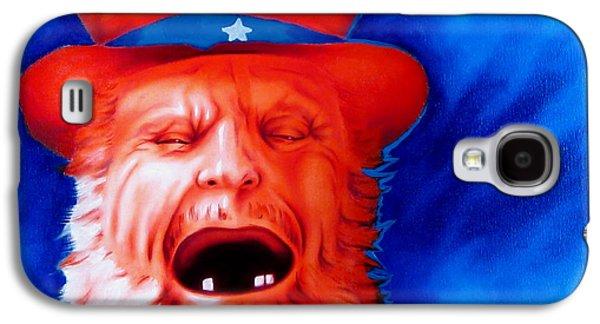 Native American Spirit Portrait Galaxy S4 Cases - Monkeys Uncle Galaxy S4 Case by Robert Martinez