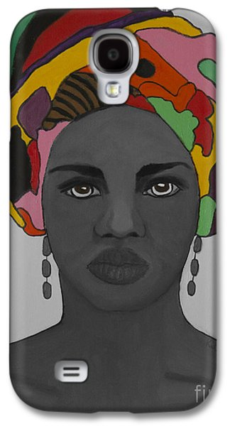 Photo Manipulation Paintings Galaxy S4 Cases - Monochrome and Color Galaxy S4 Case by Kate Farrant