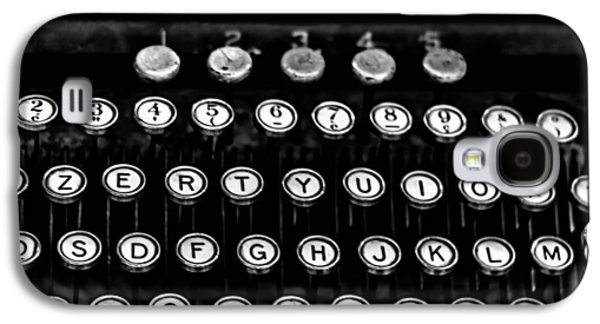 Typewriter Keys Photographs Galaxy S4 Cases - Monochrome Keys Galaxy S4 Case by Nomad Art And  Design