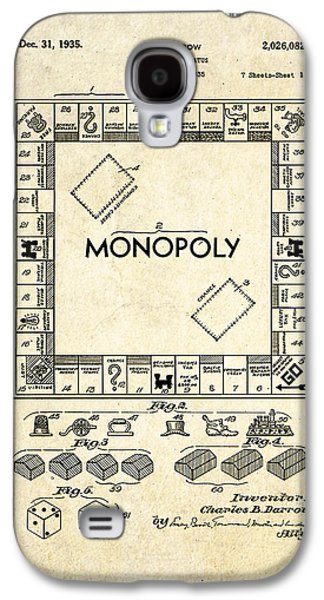 Monopoly Board Game Patent Art Galaxy S4 Case by Gary Bodnar