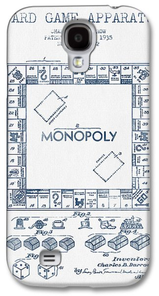 Monopoly Patent From 1935 - Blue Ink Galaxy S4 Case by Aged Pixel