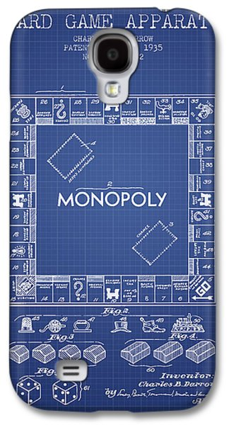 Monopoly Patent From 1935 - Blueprint Galaxy S4 Case by Aged Pixel