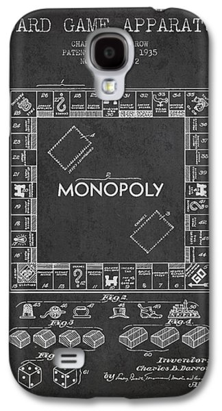 Monopoly Patent From 1935 - Dark Galaxy S4 Case by Aged Pixel