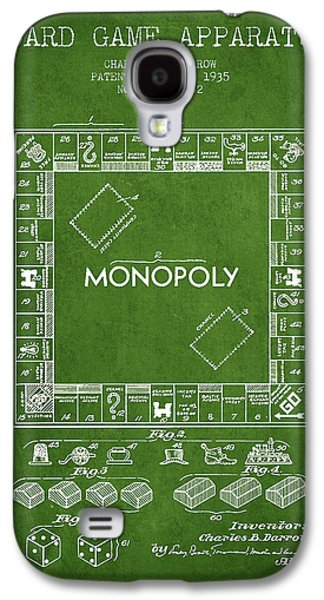 Monopoly Patent From 1935 - Green Galaxy S4 Case by Aged Pixel