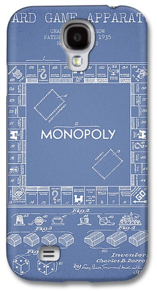 Monopoly Patent From 1935 - Light Blue Galaxy S4 Case by Aged Pixel