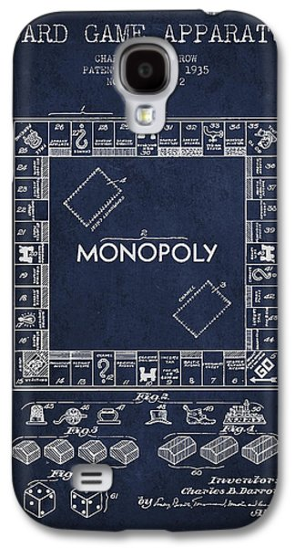 Monopoly Patent From 1935 - Navy Blue Galaxy S4 Case by Aged Pixel