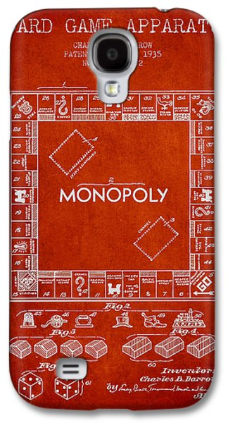 Monopoly Patent From 1935 - Red Galaxy S4 Case by Aged Pixel