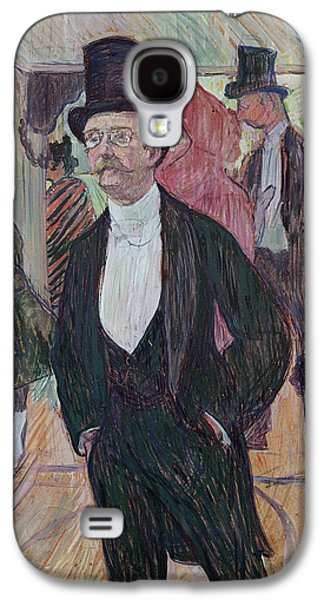 Portraits Pastels Galaxy S4 Cases - Monsieur Fourcade Galaxy S4 Case by Henri de Toulouse-Lautrec