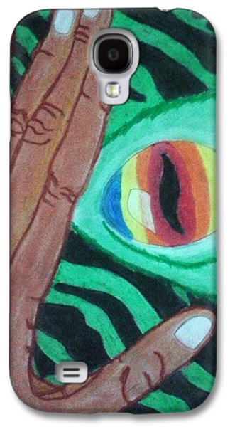Creepy Pastels Galaxy S4 Cases - Monster in Me Galaxy S4 Case by Al-ameen Asmad