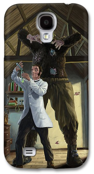 At Work Galaxy S4 Cases - Monster In Victorian Science Laboratory Galaxy S4 Case by Martin Davey
