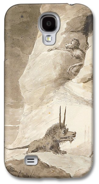 Monster Galaxy S4 Cases - Monsters Chasing A Man Galaxy S4 Case by George Dance