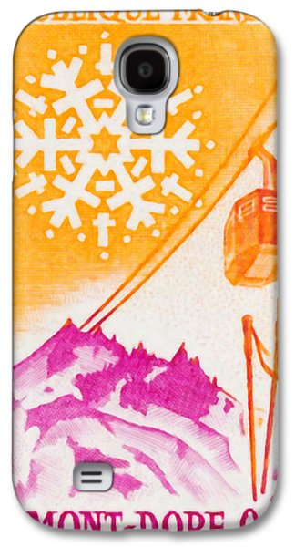Skiing Posters Paintings Galaxy S4 Cases - Mont Dore Galaxy S4 Case by Lanjee Chee
