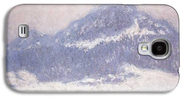Slush Galaxy S4 Cases - Mont Kolsaas Galaxy S4 Case by Claude Monet