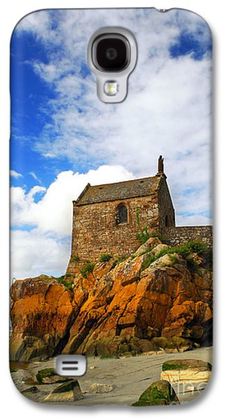 Landmarks Photographs Galaxy S4 Cases - Mont Saint Michel abbey fragment Galaxy S4 Case by Elena Elisseeva