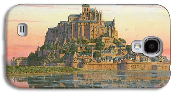 Fibonacci Galaxy S4 Cases - Mont Saint-Michel Morn Galaxy S4 Case by Richard Harpum