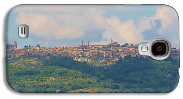 Tuscan Hills Galaxy S4 Cases - Montalcino Galaxy S4 Case by Marilyn Dunlap