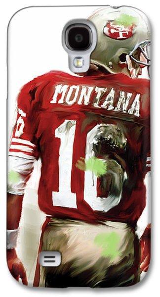 Quarterback Galaxy S4 Cases - Montana  Joe Montana Galaxy S4 Case by Iconic Images Art Gallery David Pucciarelli