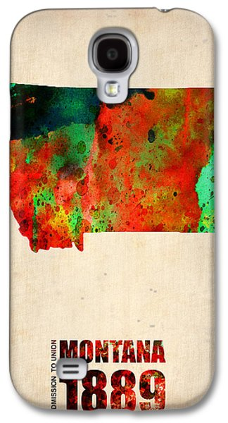 States Mixed Media Galaxy S4 Cases - Montana Watercolor Map Galaxy S4 Case by Naxart Studio