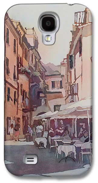Terra Paintings Galaxy S4 Cases - Monterosso Cafe Galaxy S4 Case by Jenny Armitage