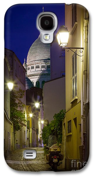 Religious Galaxy S4 Cases - Montmartre Street and Sacre Coeur Galaxy S4 Case by Inge Johnsson