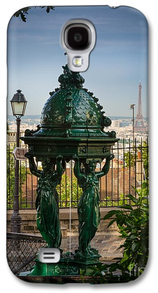 Streetlight Photographs Galaxy S4 Cases - Montmartre Wallace Fountain Galaxy S4 Case by Inge Johnsson
