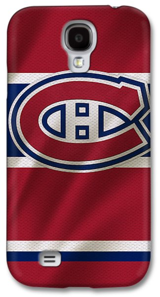 Hockey Photographs Galaxy S4 Cases - Montreal Canadiens Uniform Galaxy S4 Case by Joe Hamilton