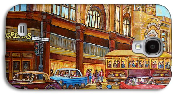 Montreal Memories Galaxy S4 Cases - Montreal Memories-streetcars-morgans Department Store At St.catherine And Union Galaxy S4 Case by Carole Spandau