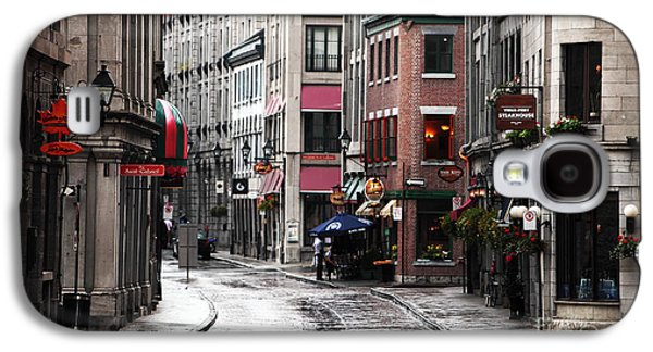 Old Montreal Galaxy S4 Cases - Montreal Street Scene Galaxy S4 Case by John Rizzuto