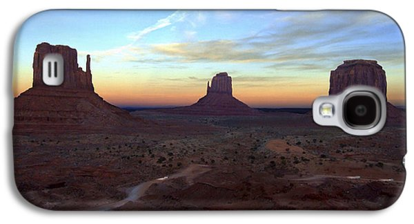 Monument Galaxy S4 Cases - Monument Valley Just After Sunset Galaxy S4 Case by Mike McGlothlen