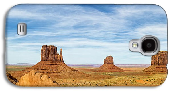 Landscapes Photographs Galaxy S4 Cases - Monument Valley Panorama - Arizona Galaxy S4 Case by Brian Harig