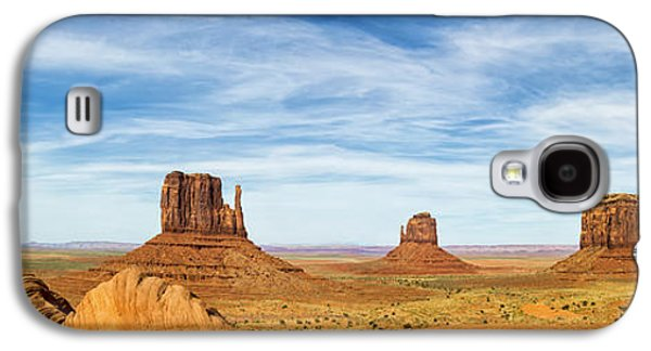 Sun Galaxy S4 Cases - Monument Valley Panorama - Arizona Galaxy S4 Case by Brian Harig