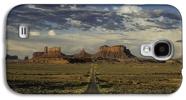 Pill Galaxy S4 Cases - Monument Valley Panorama Galaxy S4 Case by Steve Gadomski