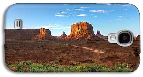 Monument Galaxy S4 Cases - Monument Valley Sundown Galaxy S4 Case by Steve Gadomski