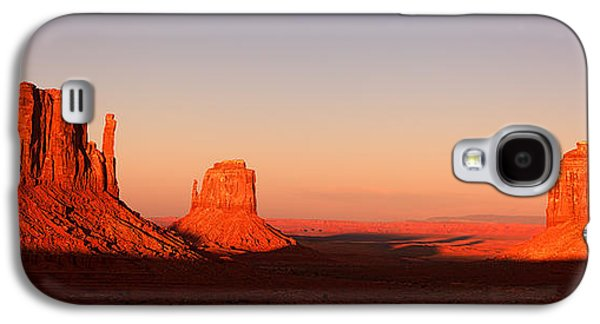 Monument Galaxy S4 Cases - Monument valley sunset pano Galaxy S4 Case by Jane Rix