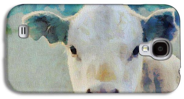 Steer Paintings Galaxy S4 Cases - Moo Galaxy S4 Case by Dan Sproul
