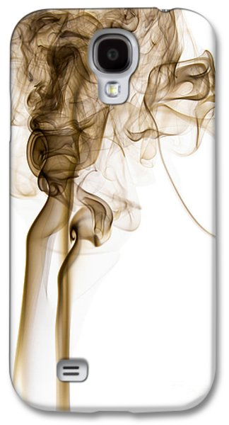 Angels Smoking Galaxy S4 Cases - Abstract Vertical Coffee Brown Mood Colored Smoke 04 Galaxy S4 Case by Alexandra K